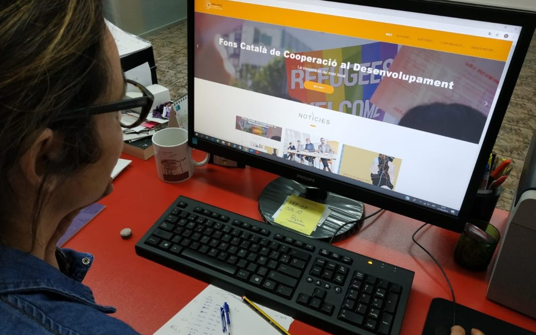 La web del Fons Català de Cooperació estrena nueva imagen