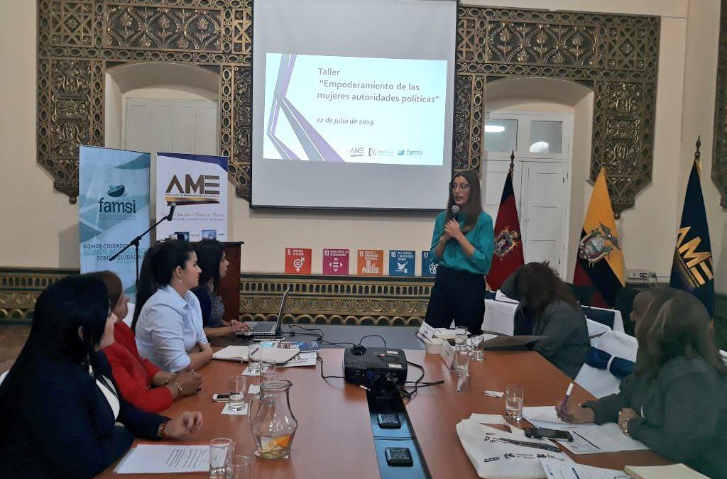 FAMSI apoya el empoderamiento de las mujeres en política local en Ecuador